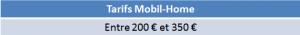 tarifs mobil home